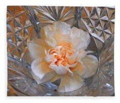 Carnation In Cut Glass 7 Fleece Blanket