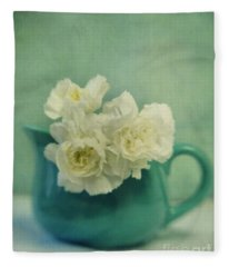 Carnations In A Jar Fleece Blanket