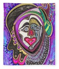 Carnival Face Fleece Blanket