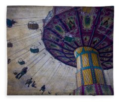 Carnival Ride At The Fair Fleece Blanket
