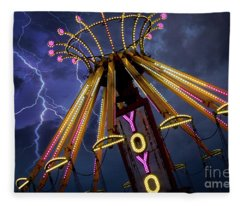 Carnival Ride Fleece Blanket
