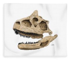 Carnotaurus Skull Fleece Blanket