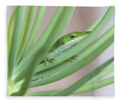 Carolina Anole Fleece Blanket