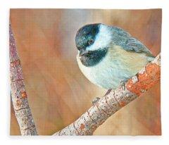 Carolina Chickadee Fleece Blanket
