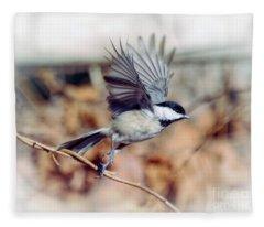 Carolina Chickadee - Come Fly With Me  Fleece Blanket