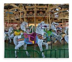 Carousel Horses Fleece Blanket