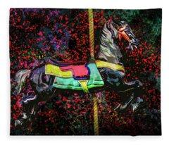 Carousel Number 16 Fleece Blanket