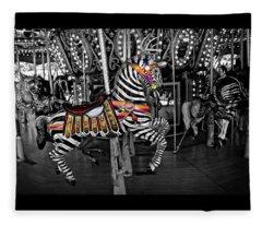 Carousel Zebra Series 2222 Fleece Blanket