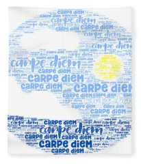 Carpe Aestatem Fleece Blanket