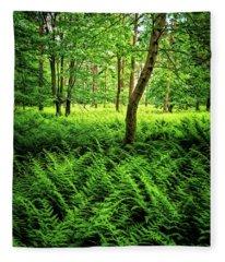 Carpet Of Ferns Fleece Blanket