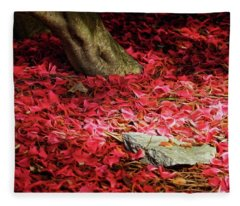 Carpet Of Petals I Fleece Blanket