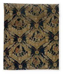Textile Tapestry Carpet With The Arms Of Rogier De Beaufort Fleece Blanket