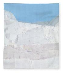 White Carrara Marble Paintings Fleece Blankets