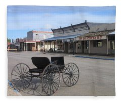 Carriage Allen Street Tombstone Arizona 2004 Fleece Blanket