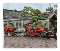 Carriage Rides Fleece Blanket