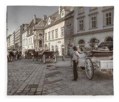 Carriages Back To Stephanplatz Fleece Blanket