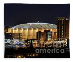 Carrier Dome And Syracuse Skyline Panoramic View Fleece Blanket