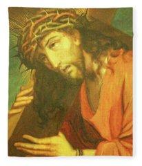 Carrying The Cross Fleece Blanket