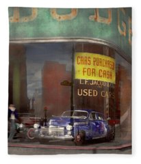 Cars - Used - Cars Purchased For Cash 1943 Fleece Blanket