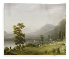 Carter's Tavern At The Head Of Lake George Fleece Blanket