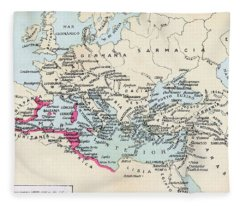 Carthaginian Colonies And Area Of Fleece Blanket
