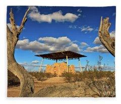 Casa Grande Ruins National Monument Fleece Blanket