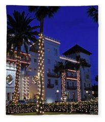 Casa Monica Inn Night Of Lights Fleece Blanket