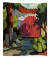 Casa Tecate Gate Fleece Blanket