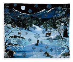 Cascade Snowflake Fleece Blanket
