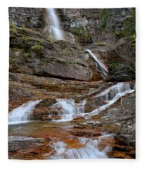 Cascades At Virginia Falls Fleece Blanket