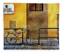 Caserma S. Marcello Bicycle Fleece Blanket