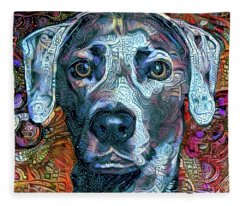 Cash The Blue Lacy Dog - Cropped Fleece Blanket