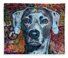 Cash The Blue Lacy Dog Fleece Blanket