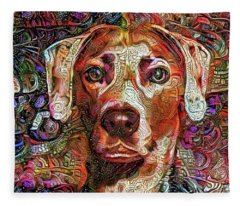 Cash The Lacy Dog Fleece Blanket