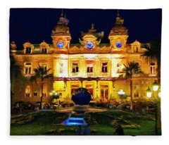 Casino Monte Carlo Fleece Blanket