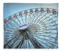 Casino Pier Ferris Wheel Fleece Blanket
