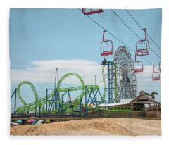 Casino Pier - Seaside Heights Fleece Blanket