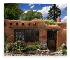 Casita De Santa Fe Fleece Blanket