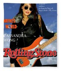 Cassandra Wong, Rolling Stone,  Wayne's World, Tia Carrere, Aurora, Il, 1992, Audition Fender  Fleece Blanket