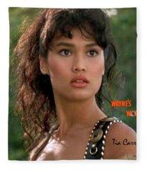Cassandra Wong, Wayne's World, Tia Carrere Fleece Blanket
