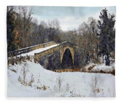 Casselman River Bridge Fleece Blanket