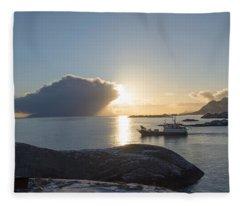 Cast A Giant Shadow... Reine Lofoten Fleece Blanket