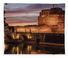Castel St Angelo  Fleece Blanket