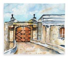 Castillo De San Cristobal Entry Gate Fleece Blanket