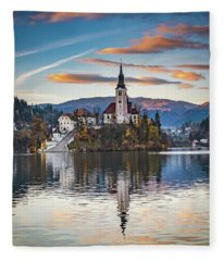 Castle At Bleed Fleece Blanket