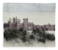 Castle In Maine Fleece Blanket