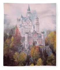Castle In The Clouds Fleece Blanket