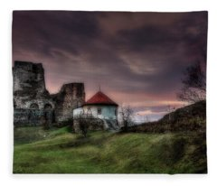 Castle Of Levice At Twilight Fleece Blanket