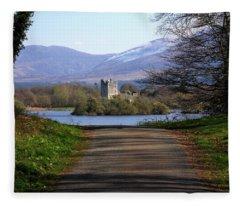 Castle On The Lakes Fleece Blanket