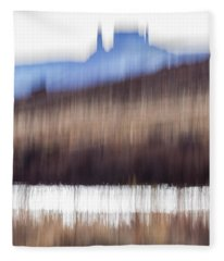 Castle Rock And Colorado River Fleece Blanket